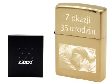 ZAPALNICZKA Z169 ZIPPO High Polish Brass GRAWER