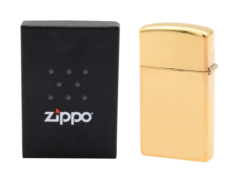 Zapalniczka ZIPPO z1654b Slim High Polish Brass GRAWER